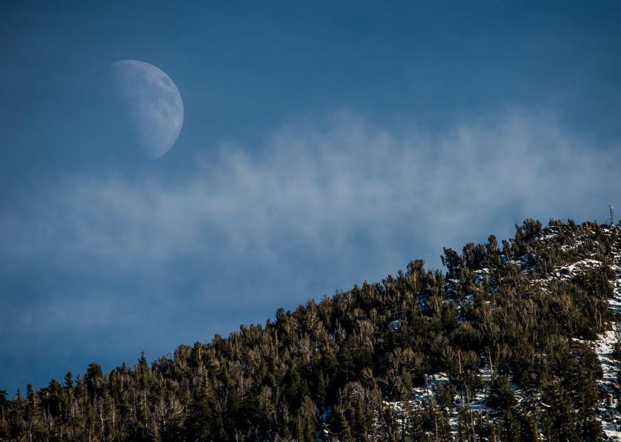 Heavenly Moon, Lake Tahoe photo print