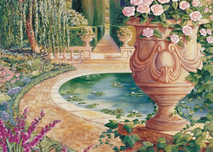 Roman Garden   Murals in Classical Style   Gordon Meggison IV