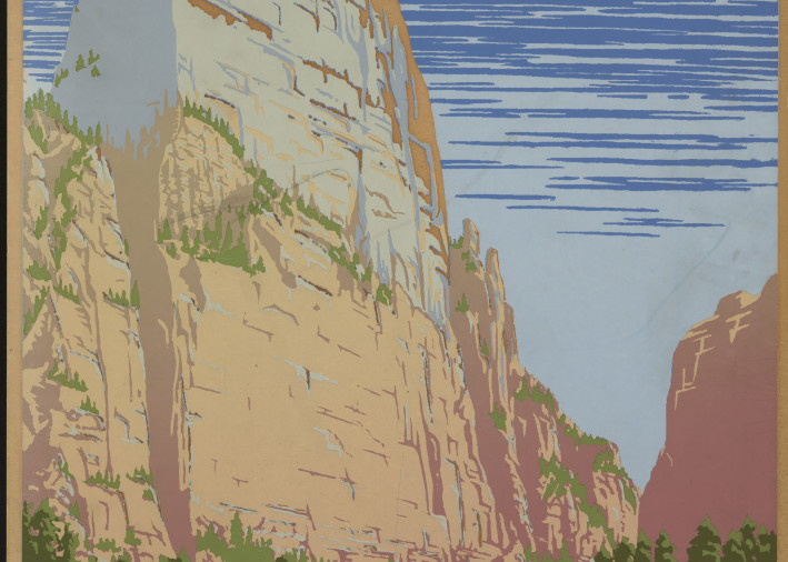 Zion National Park Poster Art | capeanngiclee