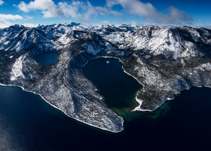Winter Jewel, Limited Edition Emerald Bay Lake Tahoe Aerial Photo Print