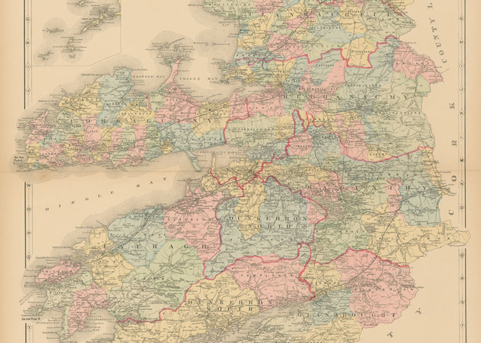 Map Of County Kerry Art | Frame Center