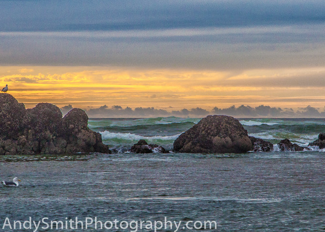 fine art photograph of sunset over stormy sea