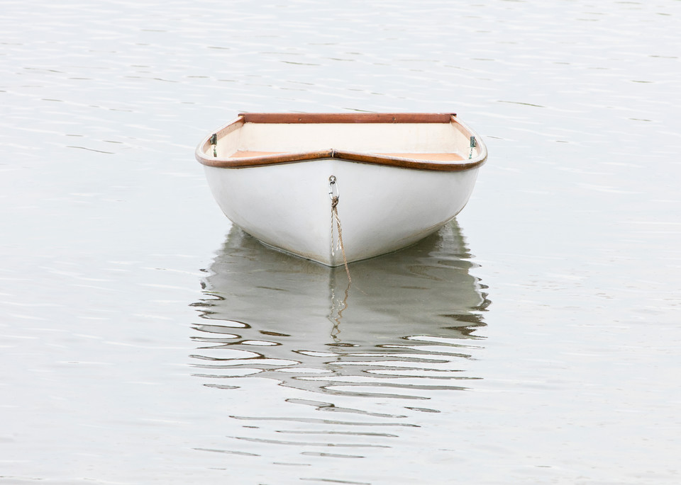 Pamet Harbor Skiff, Large Rowboat Photography, Fine Art Boat Photo Print by Katherine Gendreau