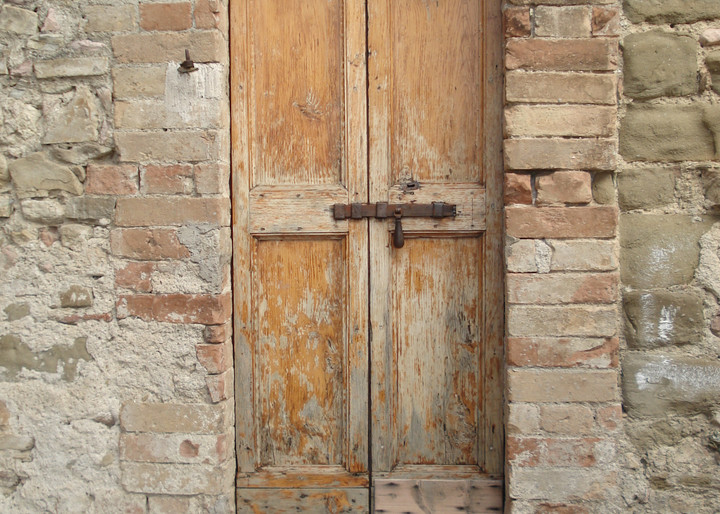 italy door ancient old wood stone