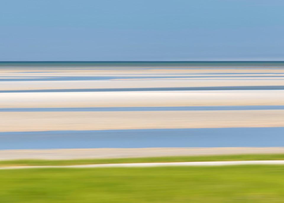 """Tide Lines II"" - Cape Cod abstract beach artwork"