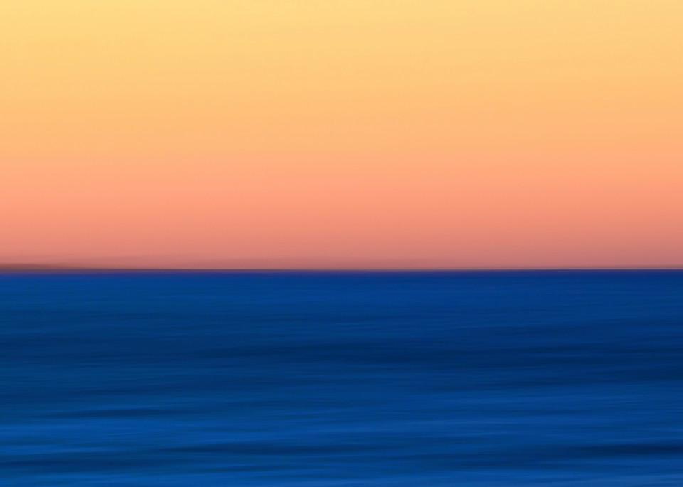 """Fire Water"" - Abstract Martha's Vineyard beach ocean artwork"