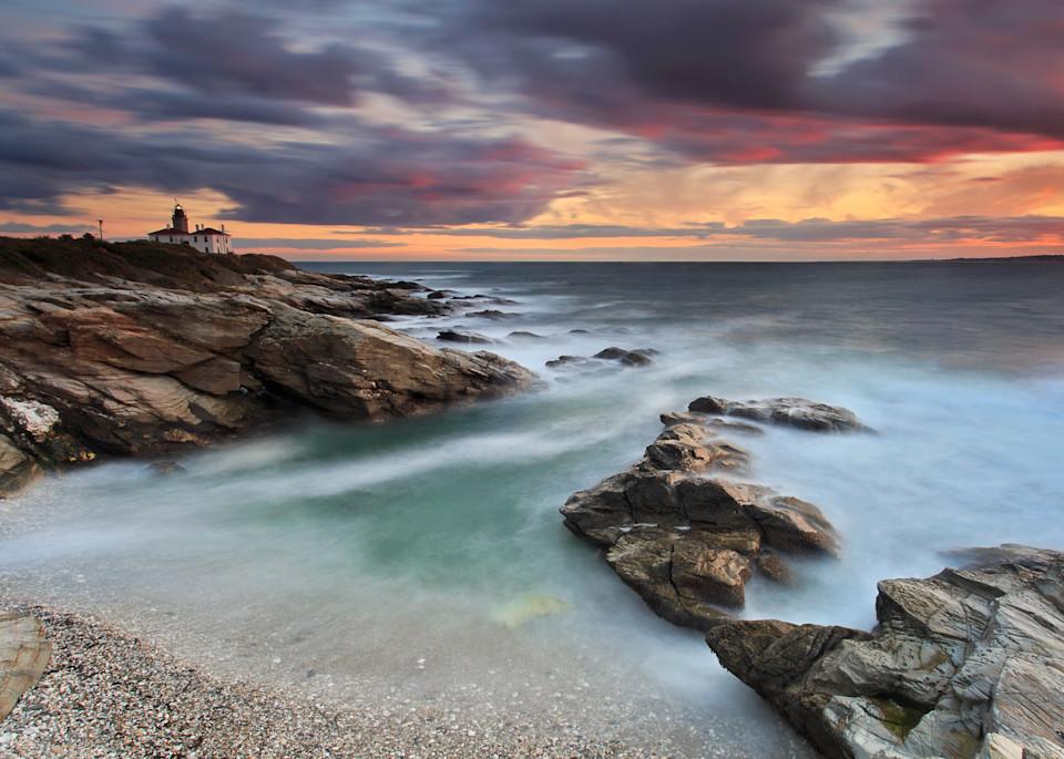 """""""October Light"""" - Fine art Rhode Island lighthouse photograph"""