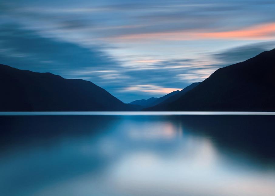 """Lake Crescent Dusk"" Olympic National Park landscape photograph"