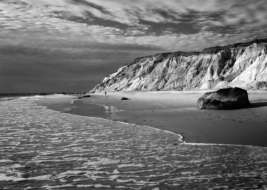 """Gay Head Bluffs"" Black and white Martha's Vineyard beach photography"