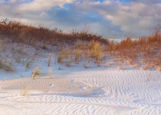 """Dunes Light"" Newport Rhode Island Panoramic Beach Photograph"
