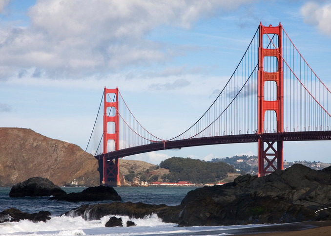 Golden Gate Bridge from Baker Beach photograph for sale as fine art by Tony Pagliaro