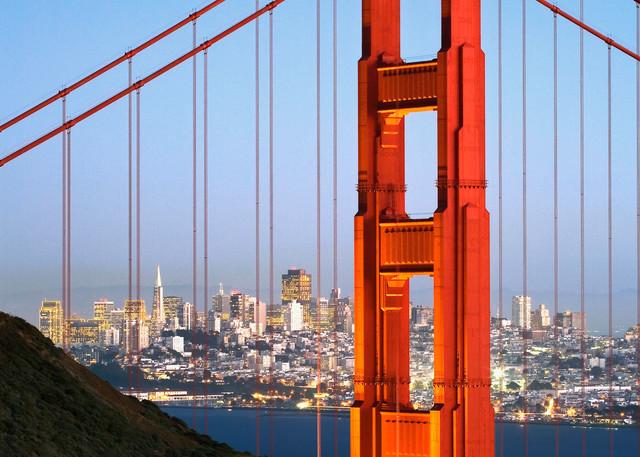 Golden Gate Bridge at Dusk photograph for sale as fine art by Tony Pagliaro