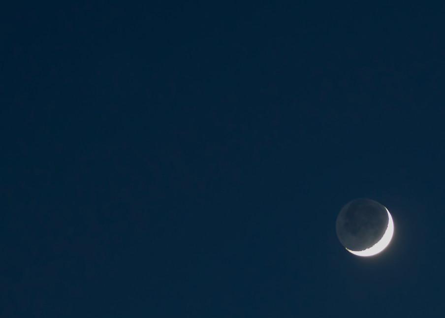 Dark Sky and Crescent Moon
