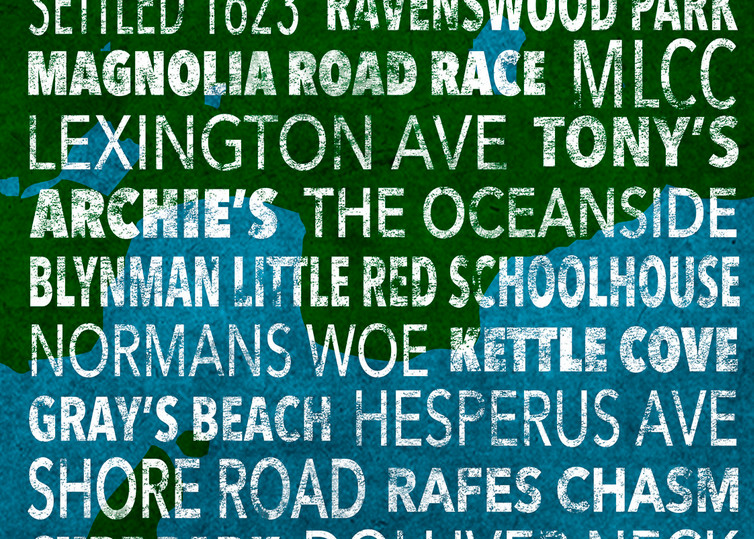 Hometown Graphics Magnolia Blue Green Art | capeanngiclee