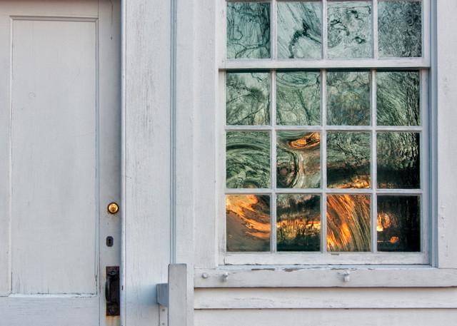Doorway and window at Canterbury Shaker Village
