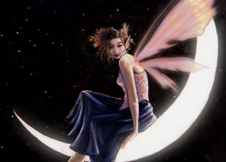 Luna Fairy Oil Painting - Fine Art Prints
