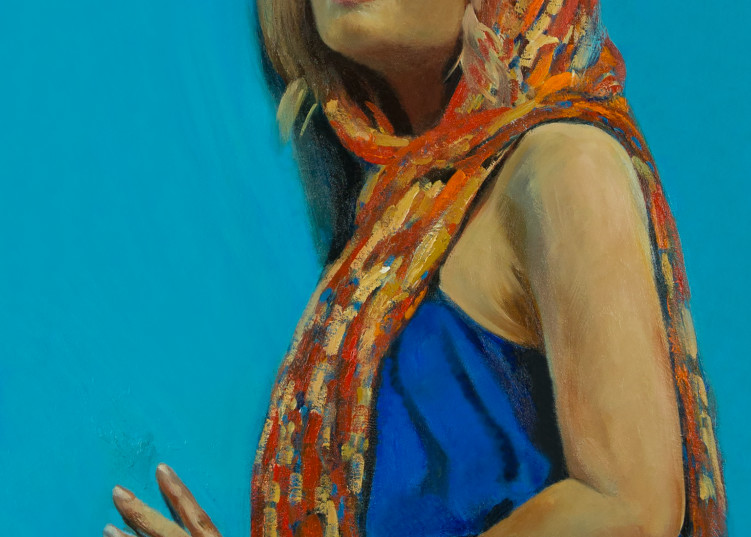 Pensive oil painting and art prints from artist Booker Tueller