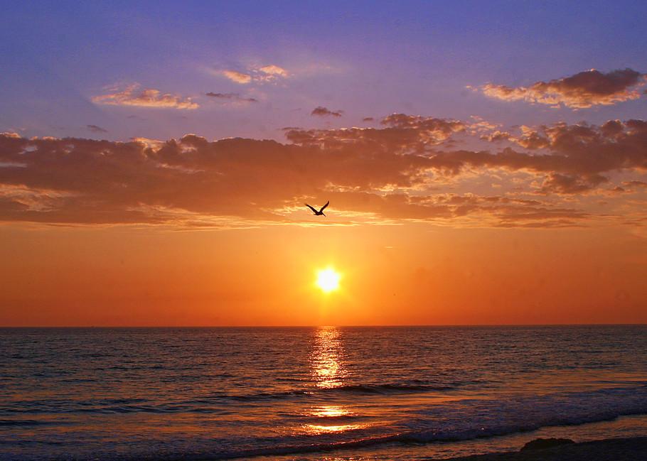 Beach Sunset - Beach Art | William Drew Photography