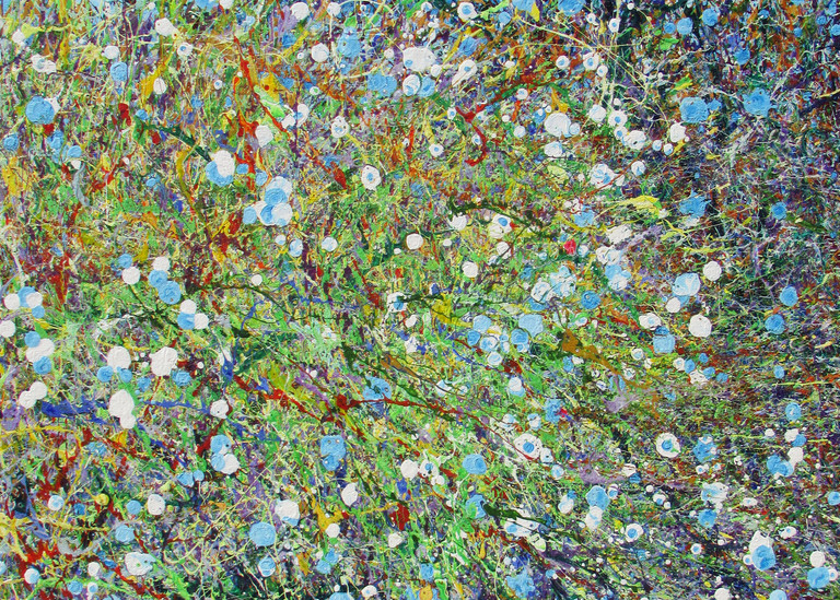 Abstract Floral Art Prints l Desert Wildflowers #26