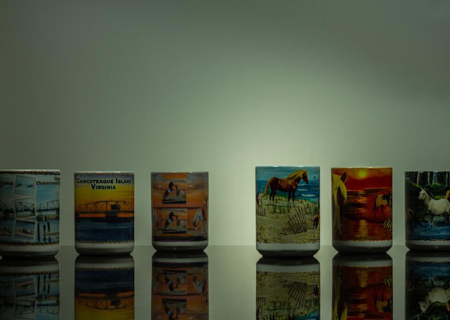A Fine Art Photograph About Chincoteague Mug Reflections by Michael Pucciarelli