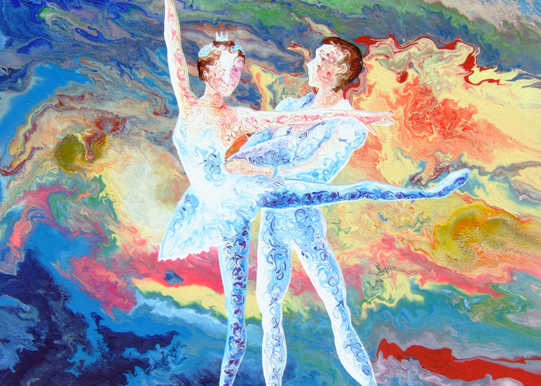 Abstract Art Of Duet Ballerina - Summer Story (iii)