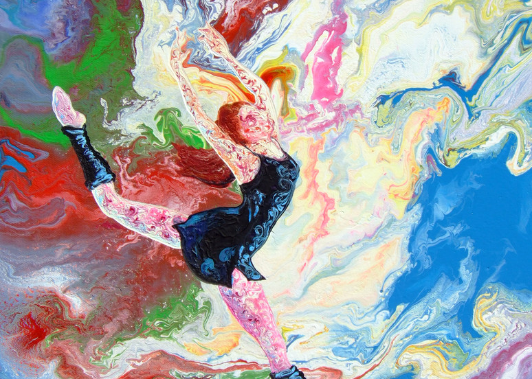 Abstract Art of Ballerina - Summer Story (iv)
