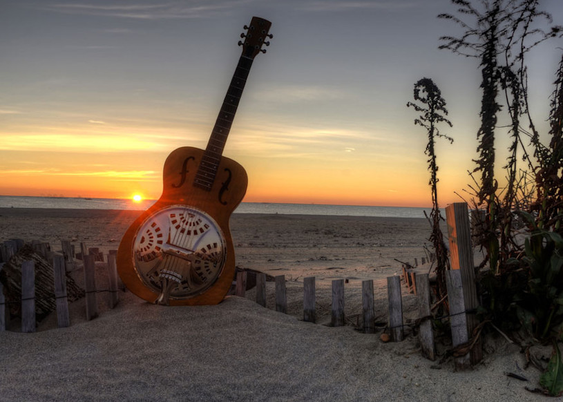Dobro At Daybreak Art | Instrumental Art