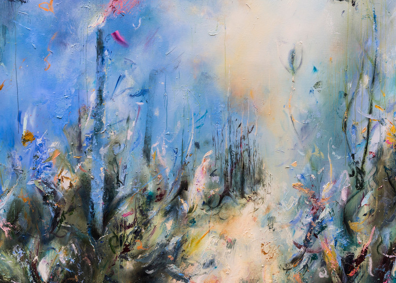 Mist - Contemporary Abstract Landscape Painting | Samantha Kaplan