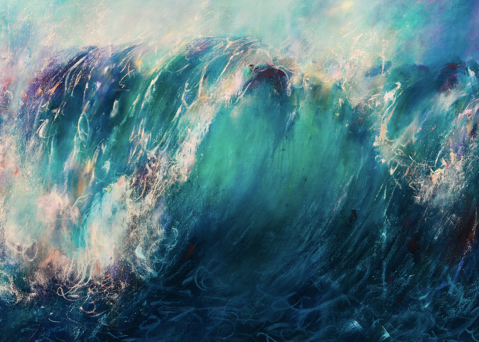 The Release - Contemporary Abstract Ocean Painting | Samantha Kaplan
