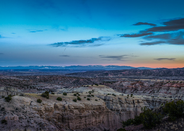 Landscape, New Mexico, Photography, Southwest, The White Place, Plaza Blanca, dusk