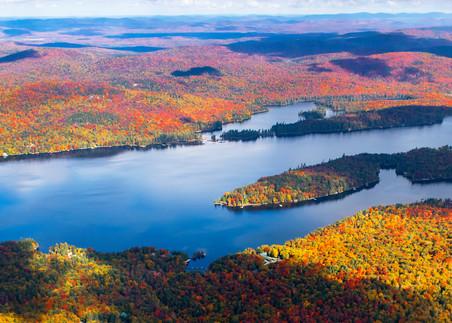Big Moose Lake Craigs Point Panoramic Aerial Photography Art | Kurt Gardner Photogarphy Gallery