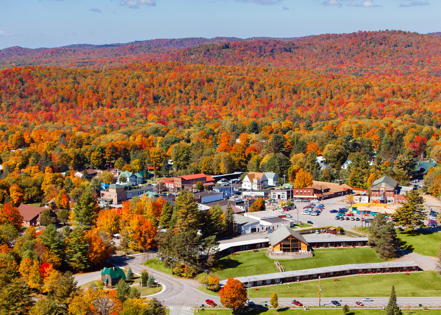 Old Forge Fall Aerial