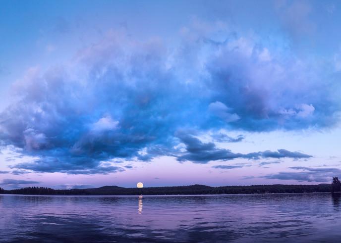 Full Moon Sunset over 1st Lake