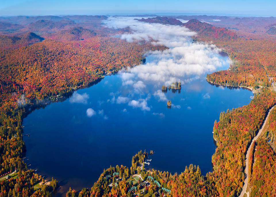 4th Lake Fall Aerial  Photography Art   Kurt Gardner Photogarphy Gallery