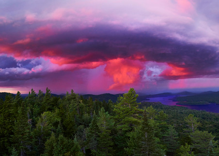 4th And 3rd Lake Sunset Strom From Bald Mt Photography Art | Kurt Gardner Photogarphy Gallery