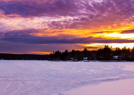 4th Lake Snowmobile Sunset Panoramic Photography Art   Kurt Gardner Photogarphy Gallery