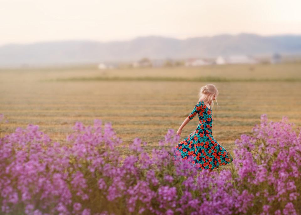 Purple Wildflowers Art | Mandy Jane Williams Art