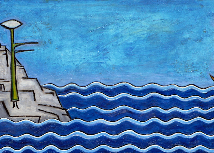 Message in a Bottle Painting by Wet Paint NYC artist Paul Zepeda