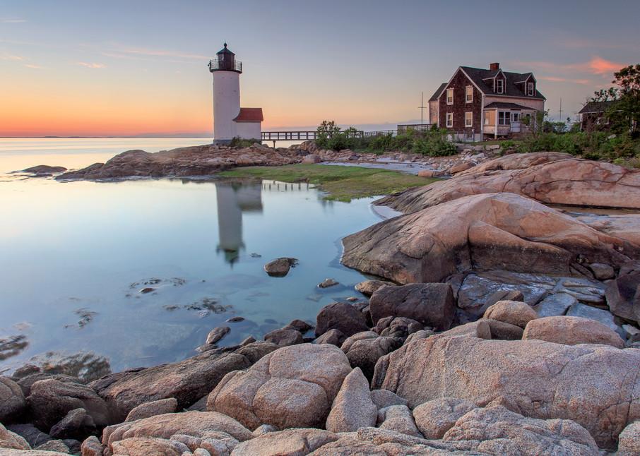 """Annisquam Lighthouse Sunset"" Gloucester Massachusetts Fine Art Coastal Photography"