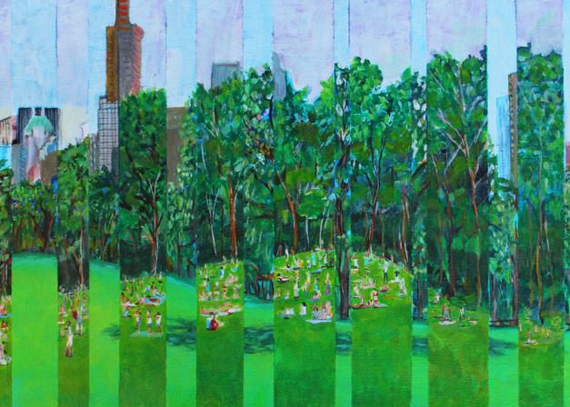 Sheeps Meadow Splice Art   Wet Paint NYC
