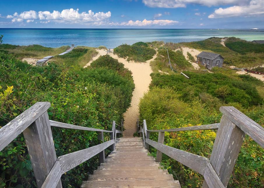 """Steps Beach"" - Fine Art Large Nantucket Coastal Dunes Photograph"