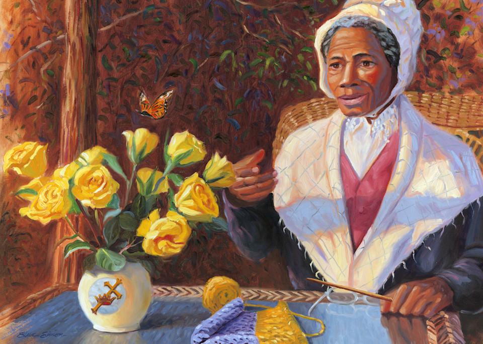 Sojourner Truth Portrait Painting by Steve Simon
