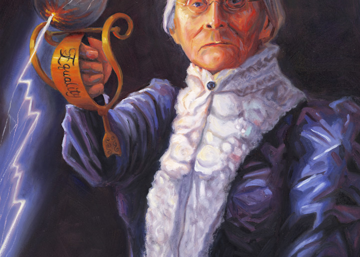 Susan B. Anthony portrait painting by Steve Simon