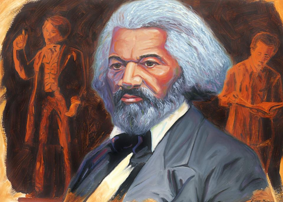 Frederick Douglass Portrait Painting by Steve Simon