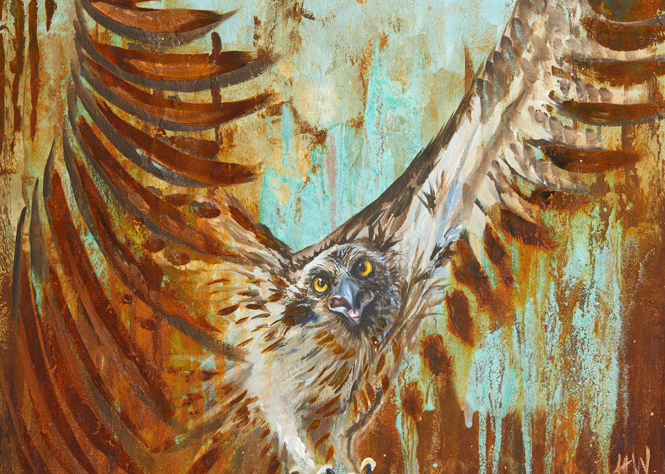 Osprey survival painting in reactive metal paints for sale