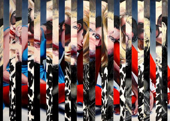Triple Splice Painting by Wet Paint NYC Artist Michael Serafino