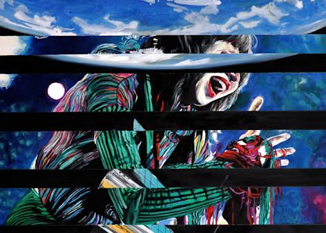 Karen O Hubble Splice Painting by Wet Paint NYC Artist Michael Serafino