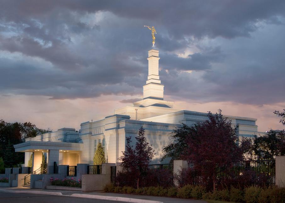 Edmonton Temple - Stormy Sky