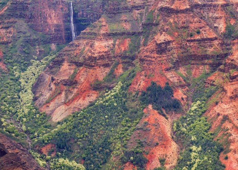 photo of waterfalls in Waimea Canyon