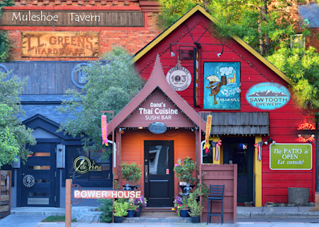 Hailey historic Idaho Street Talk - Collage - Fine Art Prints on Metal, Canvas, Paper & More By Kevin Odette Photography